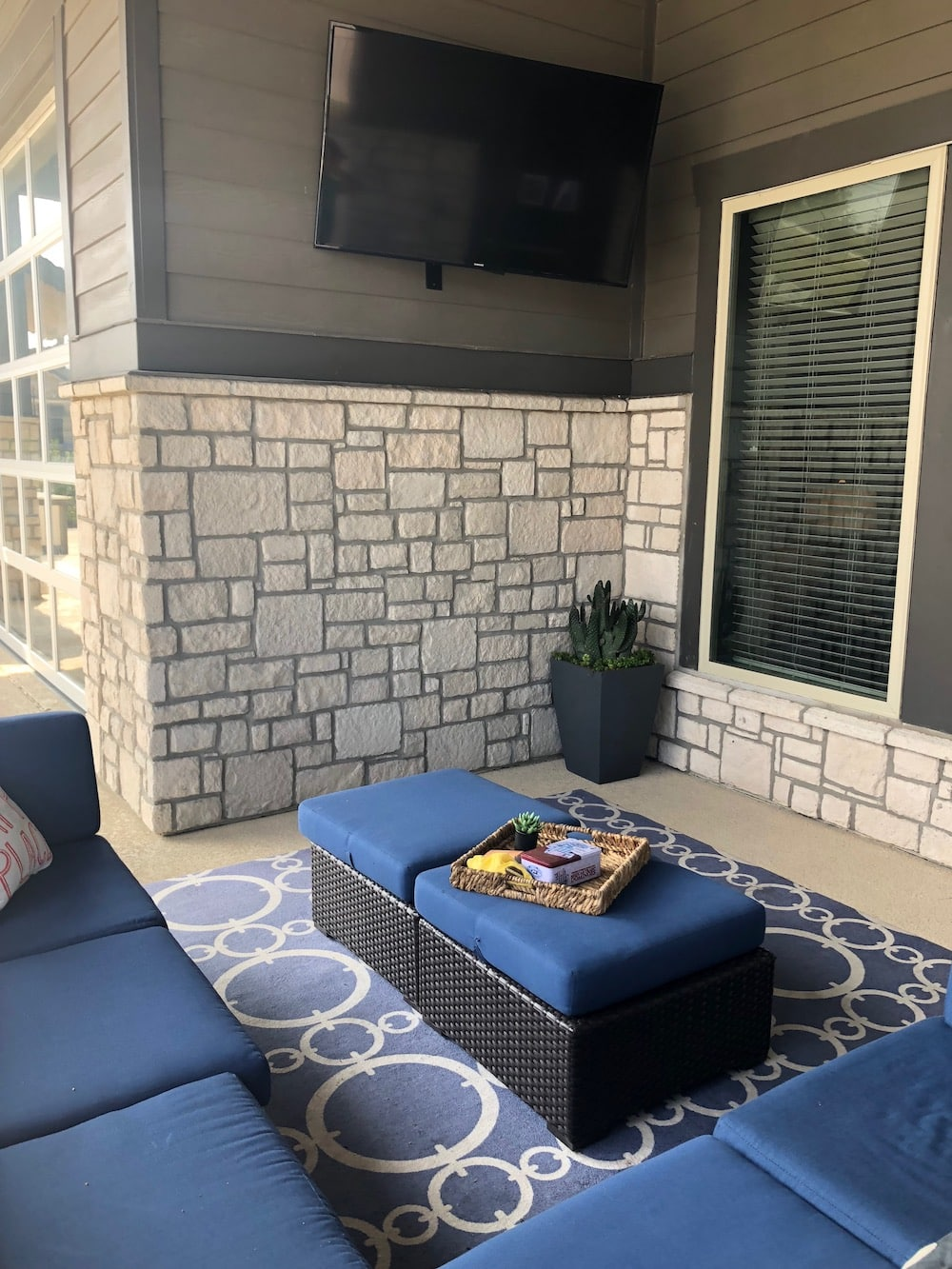 chalk stone on outdoor living space