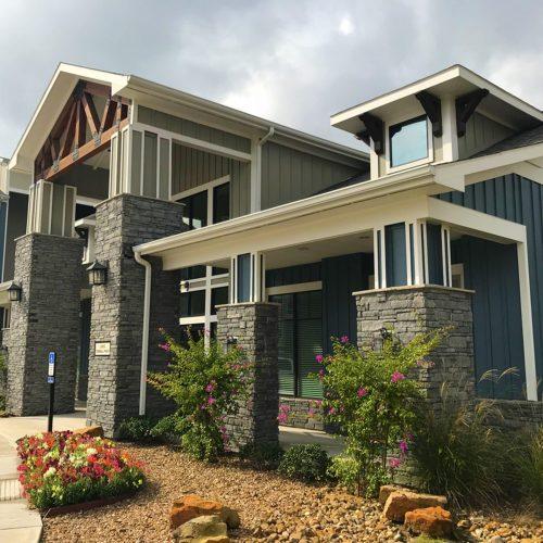 custom gray ledgestone home