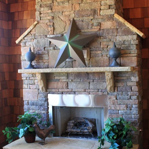 newhaven castlestone on fireplace