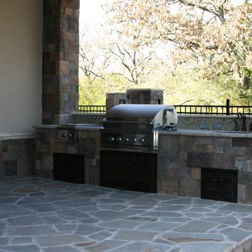 new haven castlestone on outdoor kitchen